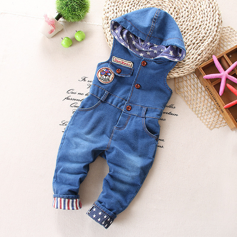 Winter-and-spring-bear-baby-denim-overalls-Boy-s-Girl-s-Jumpsuit-brand-kids-bib-pants